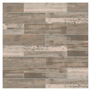 Montagna Wood Weathered Gray 6 In X 24 Porcelain Floor And Wall Tile
