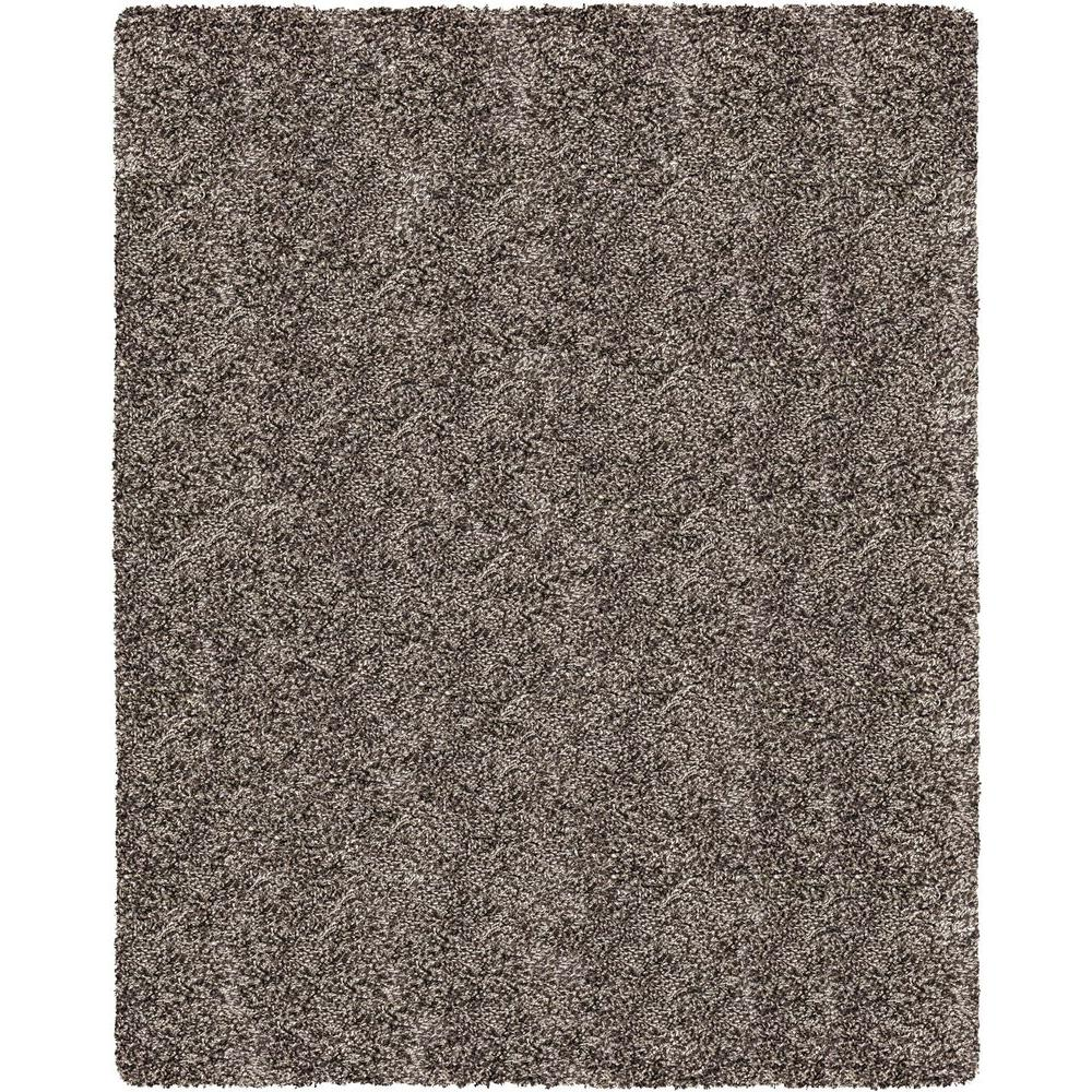 Home Decorators Collection Hanford Shag Grey 7 ft. 10 in. x 10 ft. Area Rug