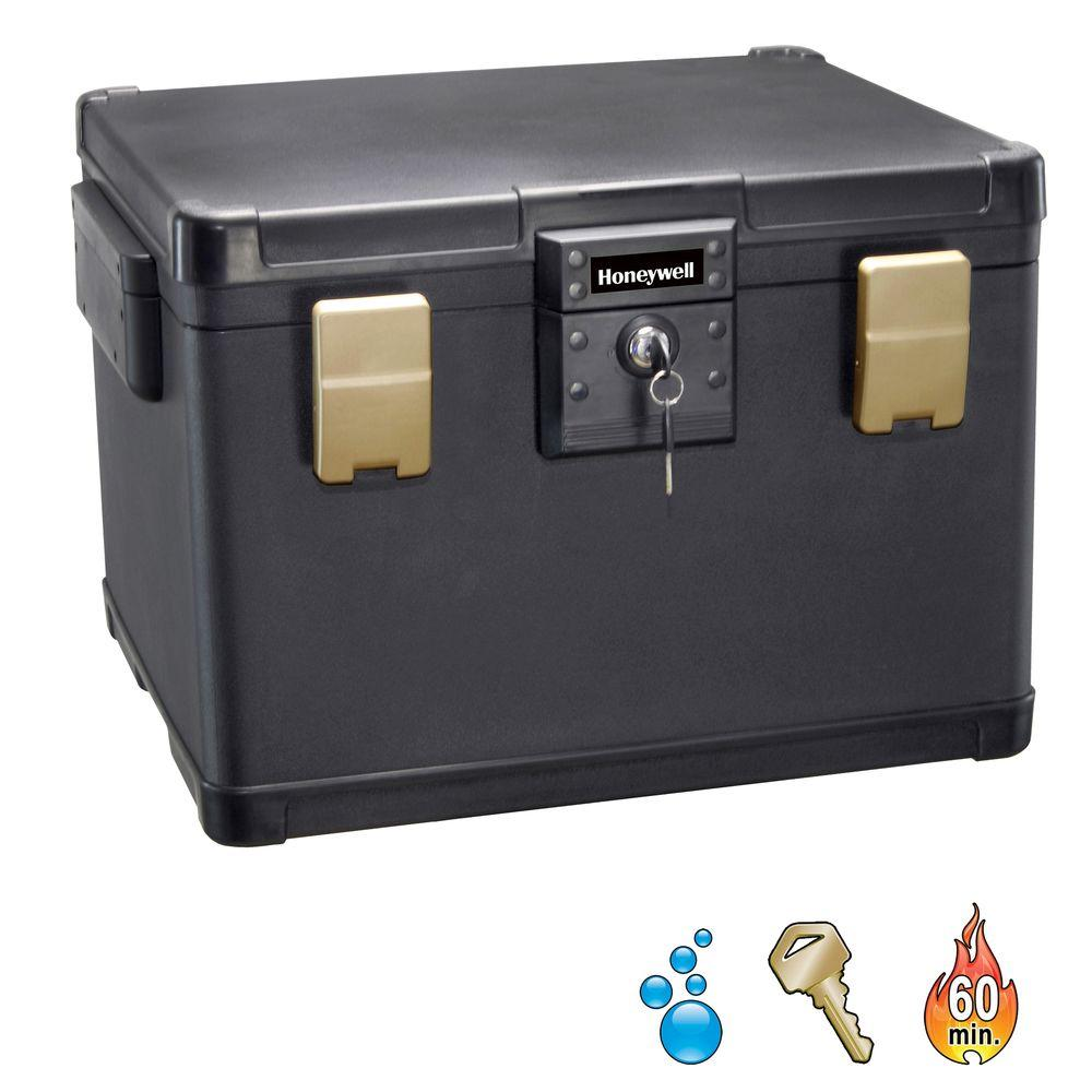 1.06 cu. ft. Molded Fire/Water Chest with Key and Double Latch
