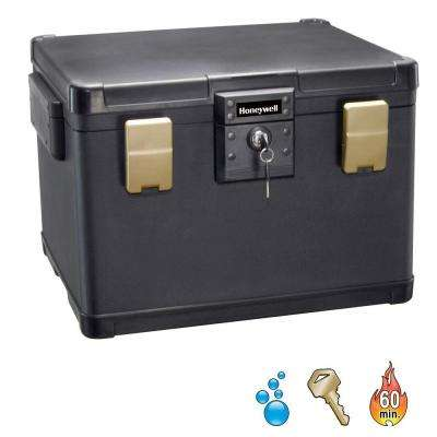 1.06 cu. ft. Molded Fire/Water Chest with Key and Double Latch Lock