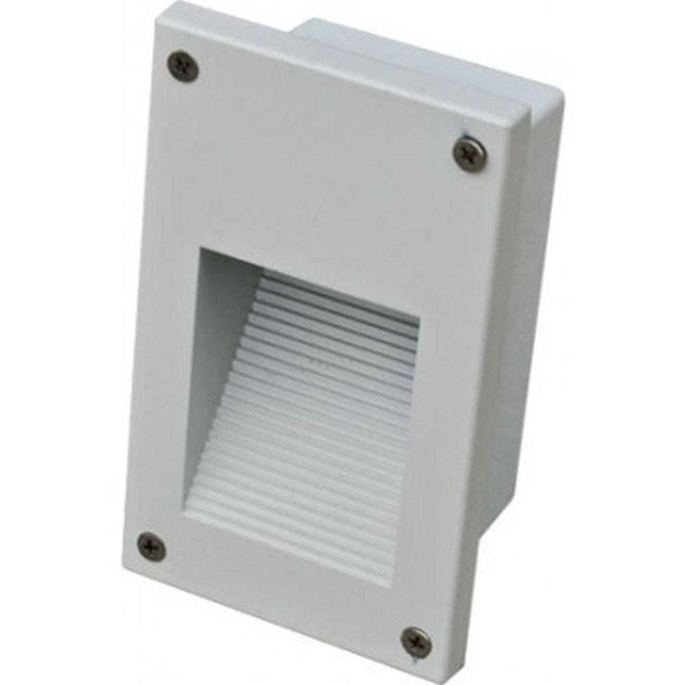 Ashler 12-Light White Outdoor LED Recessed Step Light