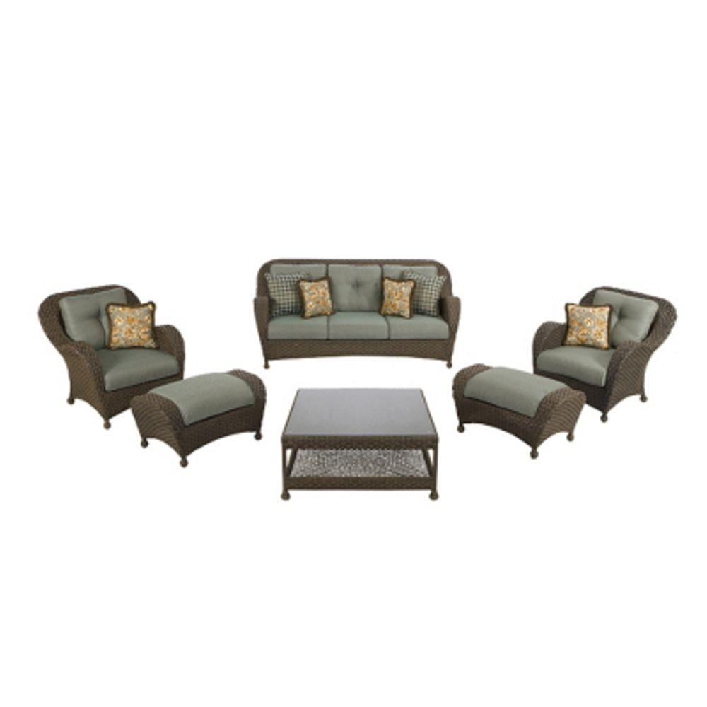 Martha Stewart Living Palm Cove Collection 6-Piece Seating Set-DISCONTINUED