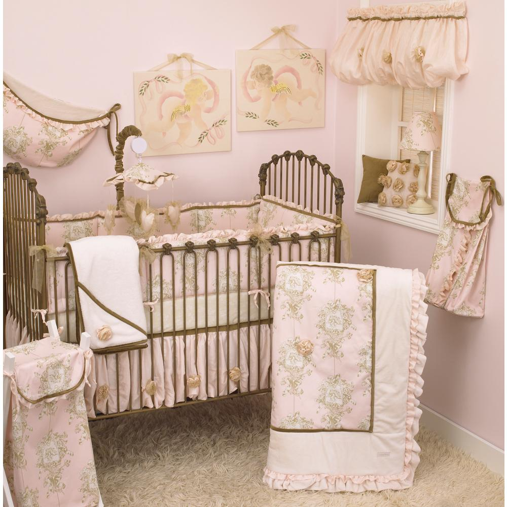 Cotton Tale Lollipops and Roses Pink Toile 4-Piece Crib B...