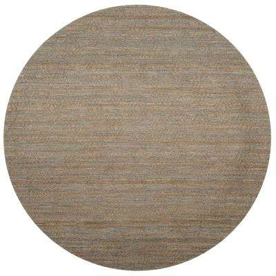 Cape Cod Gray/Sand 6 ft. x 6 ft. Round Area Rug