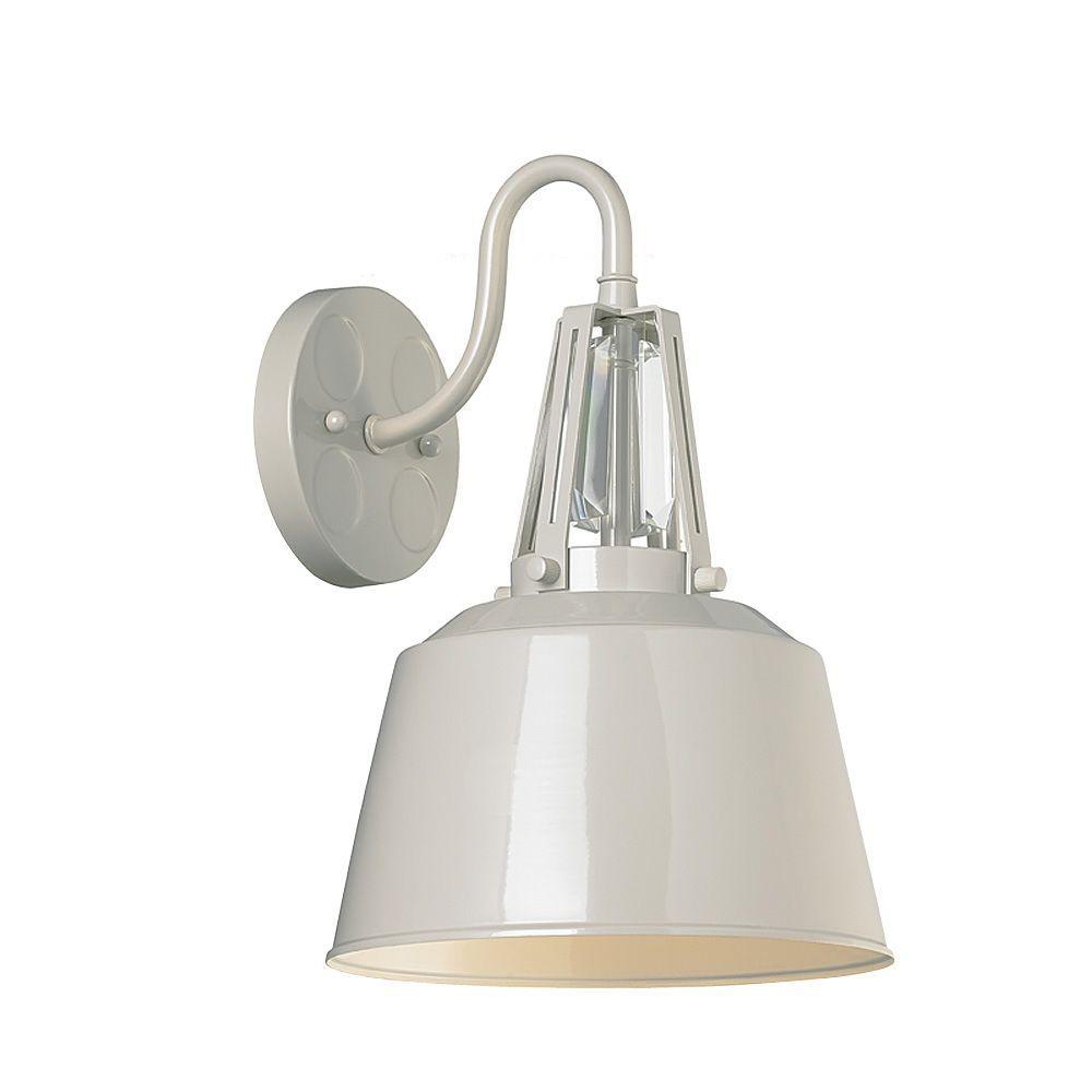 Freemont 9 in. W. 1-Light Hi Gloss Grey Wall Bracket