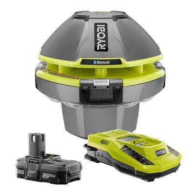 18-Volt ONE+ Floating Speaker/Light Show + Lithium-Ion Battery Pack 1.3Ah + Dual Chemistry IntelliPort Charger