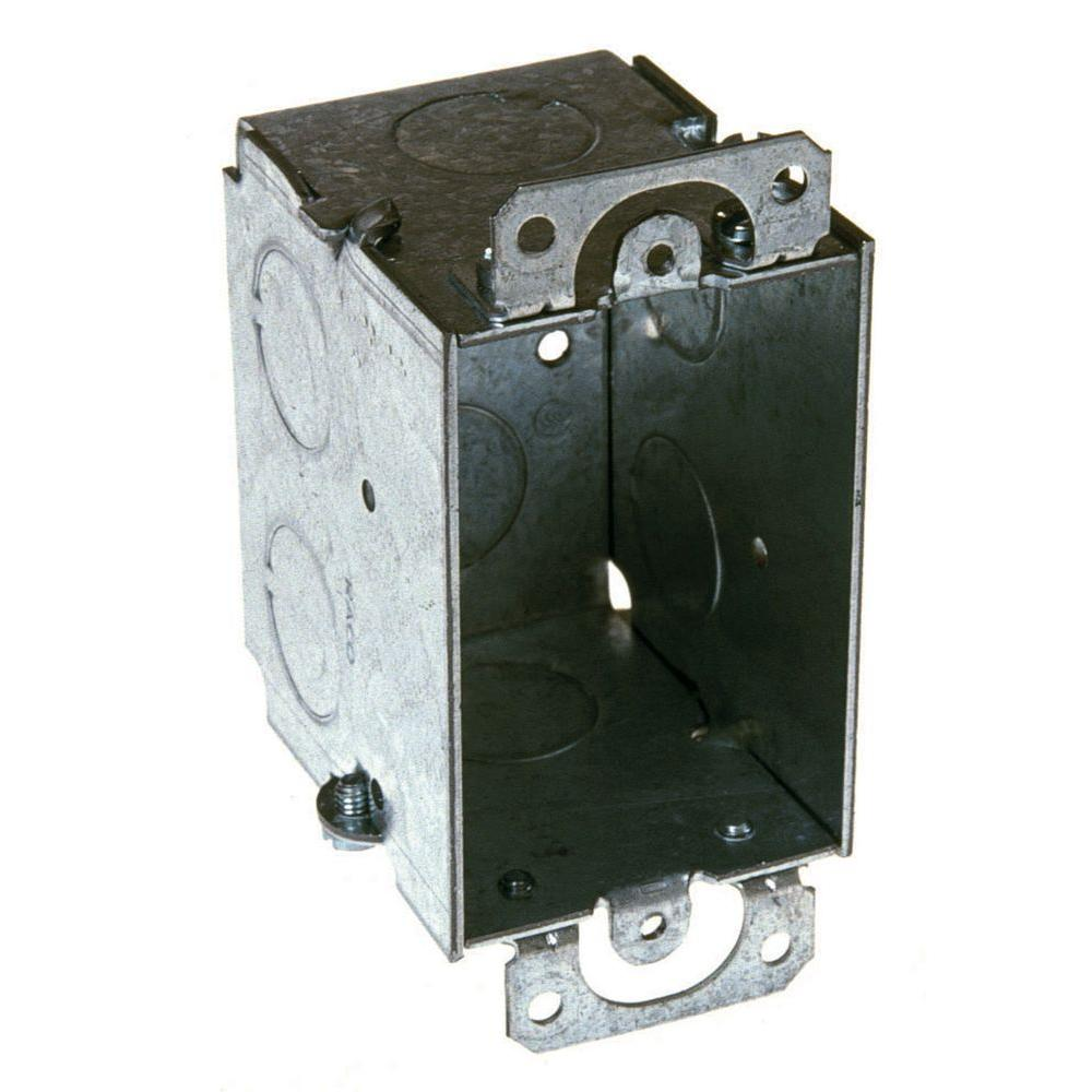 RACO 2-1/2 in. Deep Switch Box, Gangable with 1/2 in. KO\'s and ...