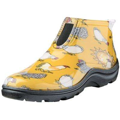 Women's Chicken Daffodil Yellow Ankle Boot- Garden Shoe