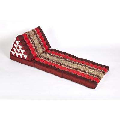 Red and Burgundy Jumbo Triangle Lounger and Recliner