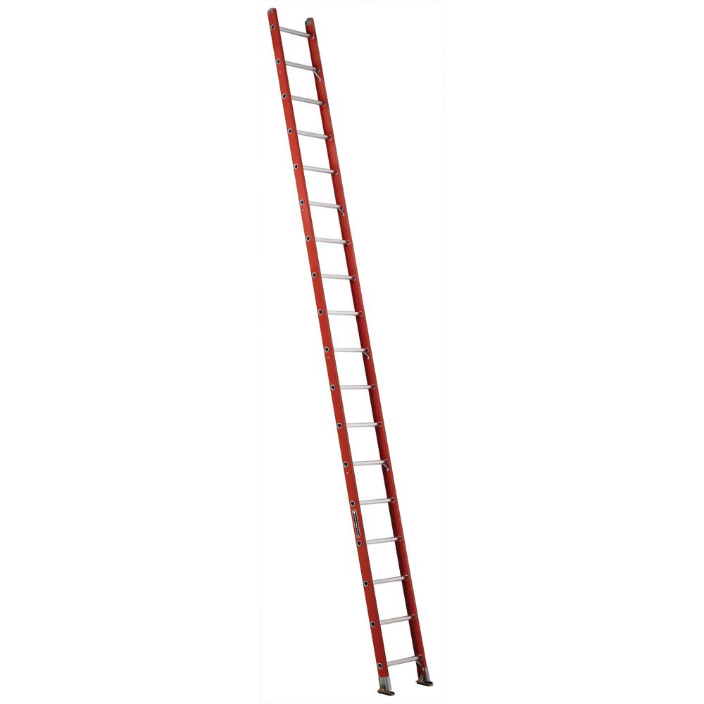 18 ft. Fiberglass Single Ladder with 300 lbs. Load Capacity Type