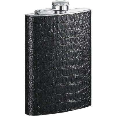 Ezra Handcrafted Black Leather Liquor Flask