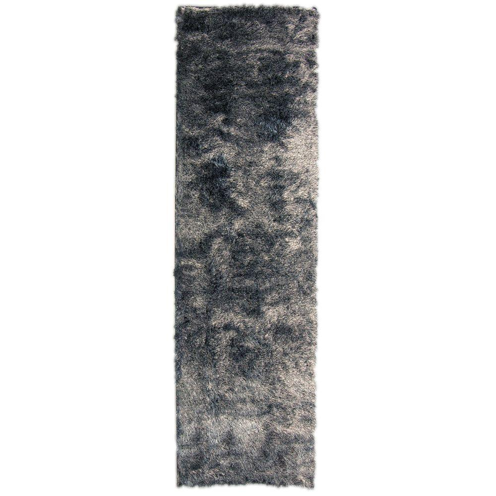 Home Decorators Collection So Silky Salt and Pepper 3 ft. x 12 ft. Area Rug