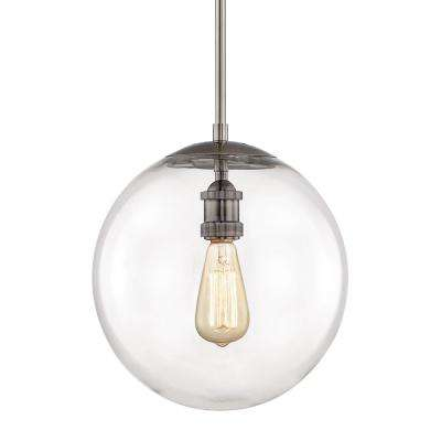 12 In 1 Light Historic Nickel Globe Pendant Vintage Bulb Included