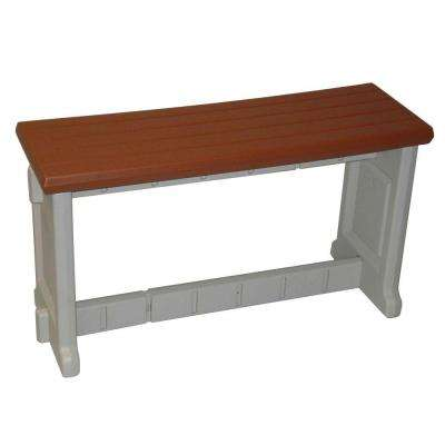 36 in. Redwood Resin Patio Bench