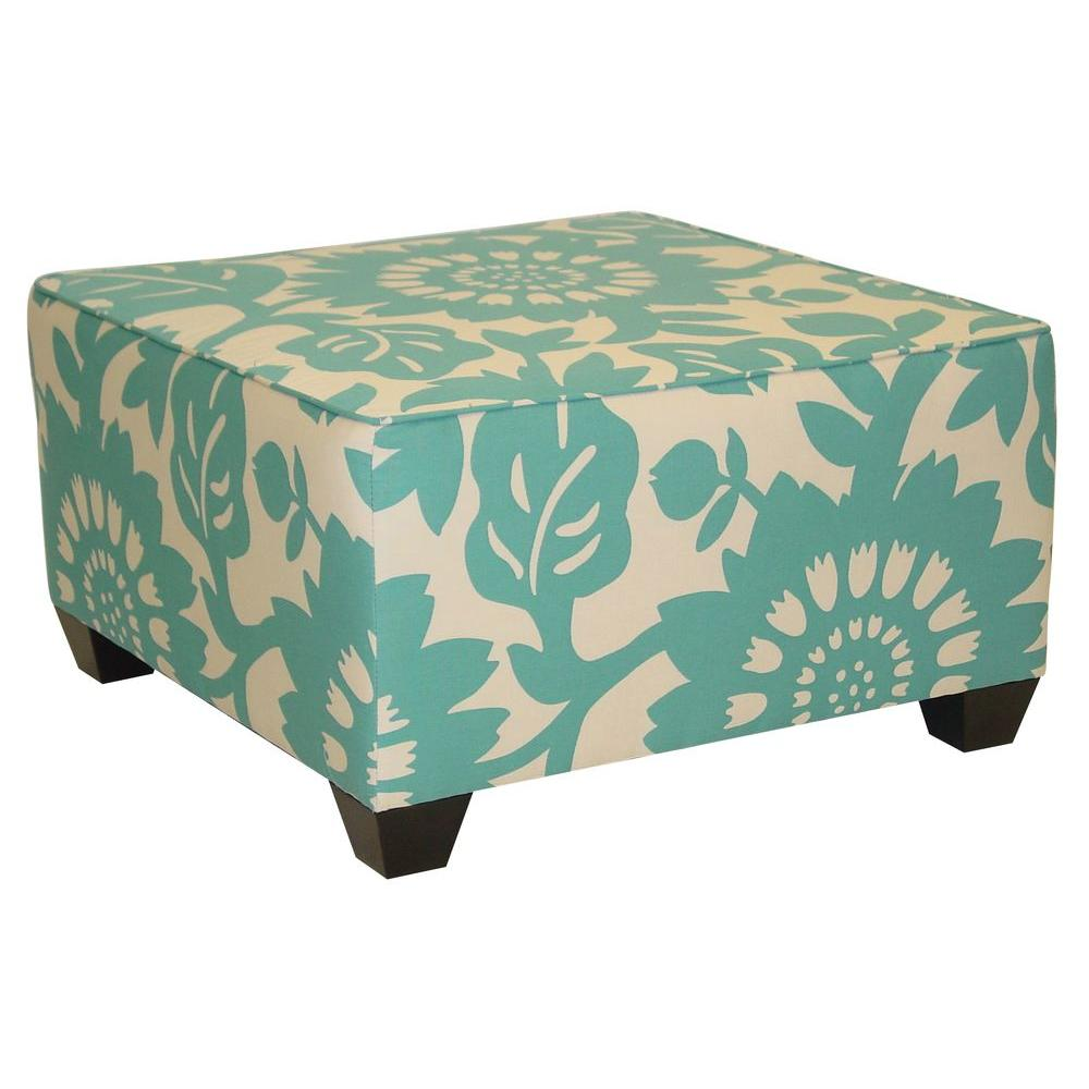 Home Decorators Collection Georgetown Square Surf Cocktail Ottoman