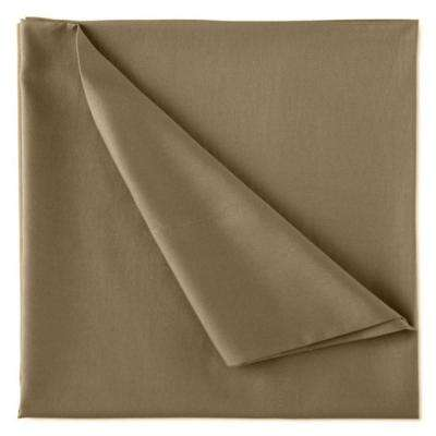 Wrinkle Resistant Sand 300TC 100% Organic Cotton King Flat Sheet
