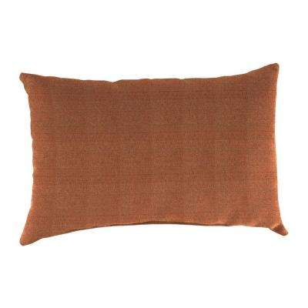 Sunbrella 9 in. x 22 in. Linen Chili Lumbar Outdoor Pillow