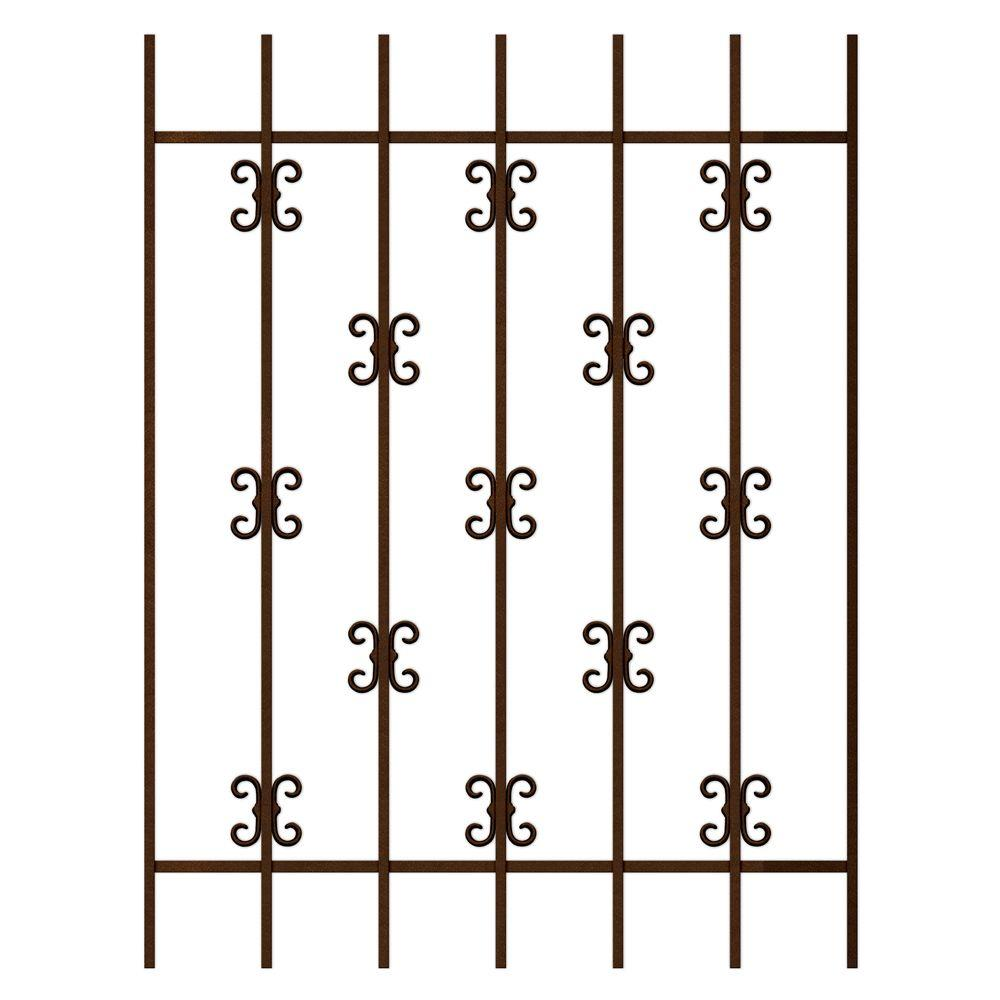 Unique Home Designs Moorish Lace 36 in. x 48 in. Copper 7-Bar Window Guard-DISCONTINUED