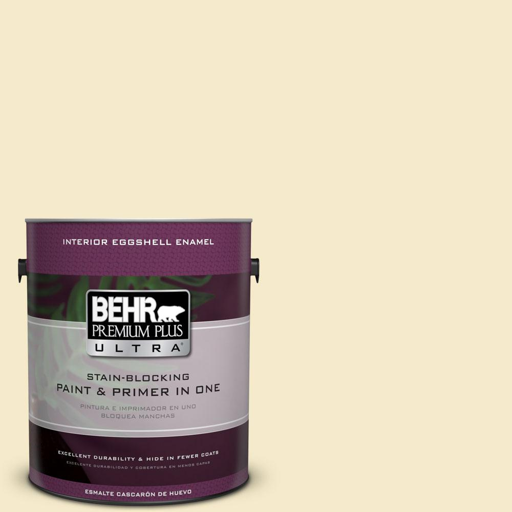 BEHR Premium Plus Ultra 1-gal. #PPL-40 Summer Sunshine Eggshell Enamel Interior Paint