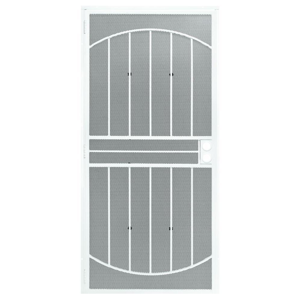 First Alert 36 in. x 80 in. Apollo Steel White Prehung Security Door