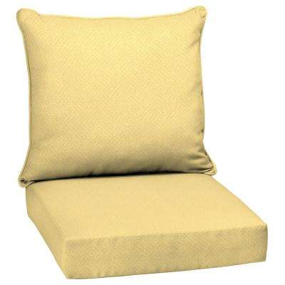 Shirt Texture 2 Piece Deep Seating Outdoor Lounge Chair Cushion