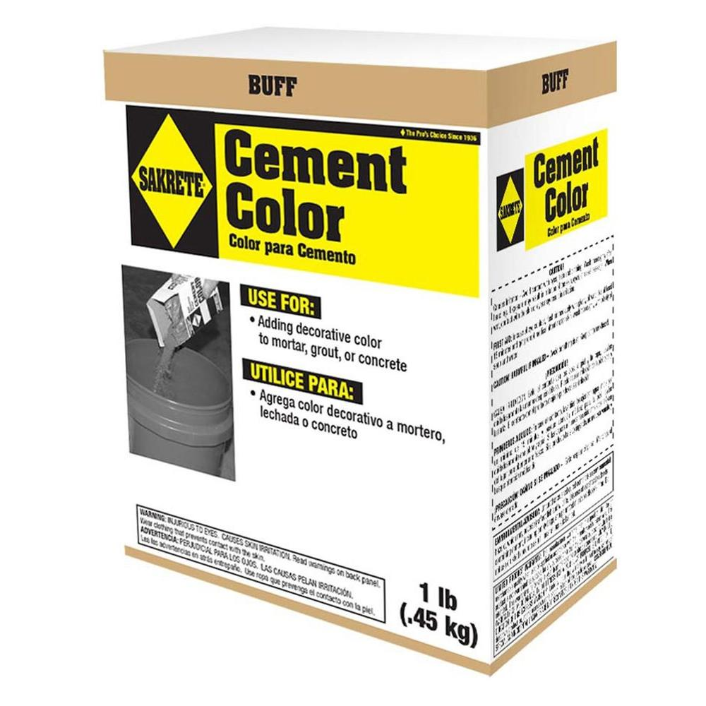 SAKRETE 1 lb. Cement Color Buff-65075001 - The Home Depot