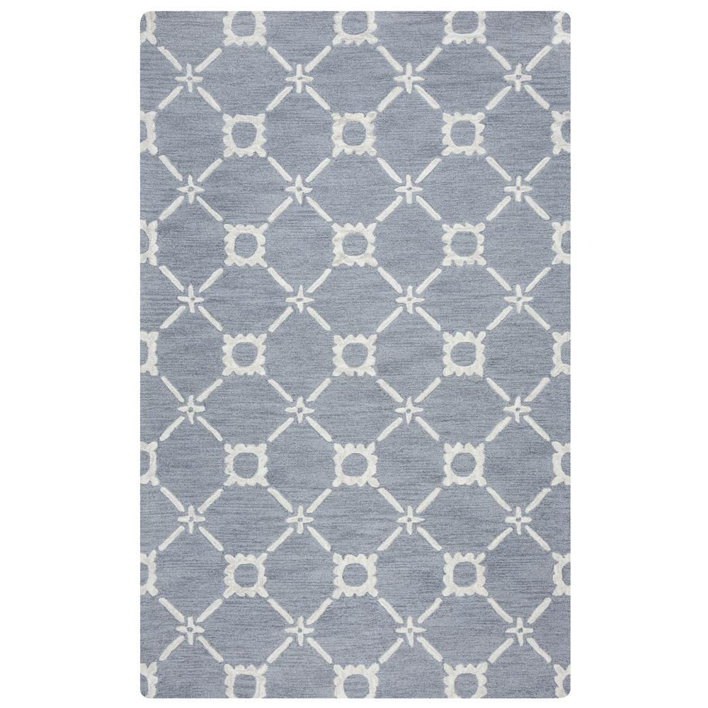 Rizzy Home Luniccia Gray Hand Tufted Wool 9 Ft X 12 Ft Area Rug