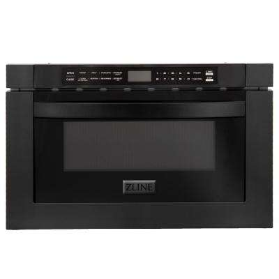ZLINE 24 in. 1.2 cu. Ft. Microwave Drawer in Black Stainless Steel