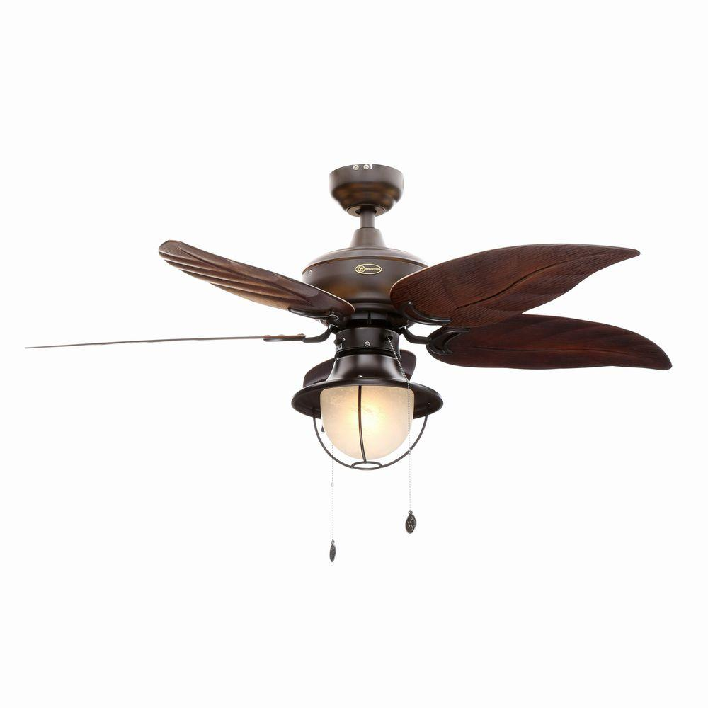 Unique Outdoor Ceiling Fans Part - 44: Indoor/Outdoor Oil Rubbed Bronze Ceiling Fan-7861965 - The Home Depot
