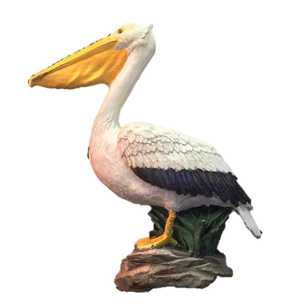 20 in. Pelican Bronze Collectible Beach Statue on Coastal Rock