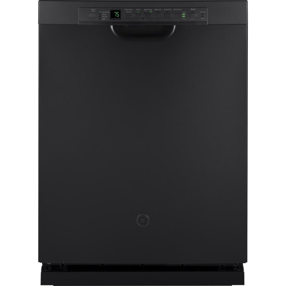 GE Front Control Dishwasher in Black Slate, Fingerprint R...