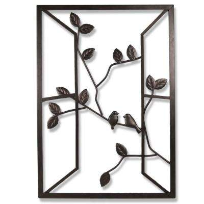 Open Window 20 in. W x 28 in. H Metal Wall Art