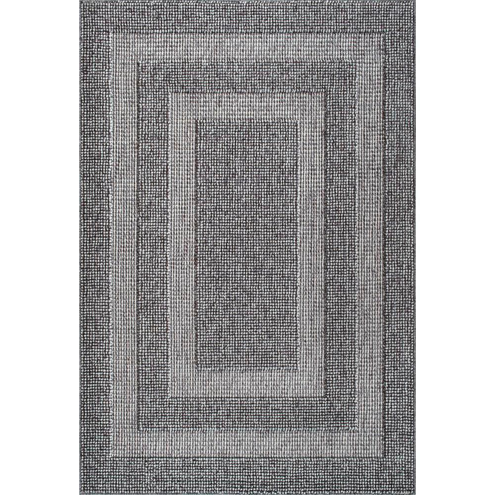 Nuloom Mosby Border Texture Dark Grey 8 Ft X 10 Ft Area