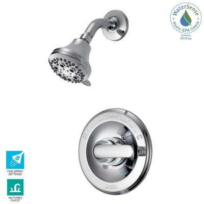 Classic Single-Handle 5-Spray Shower Faucet in Chrome (Valve Included)