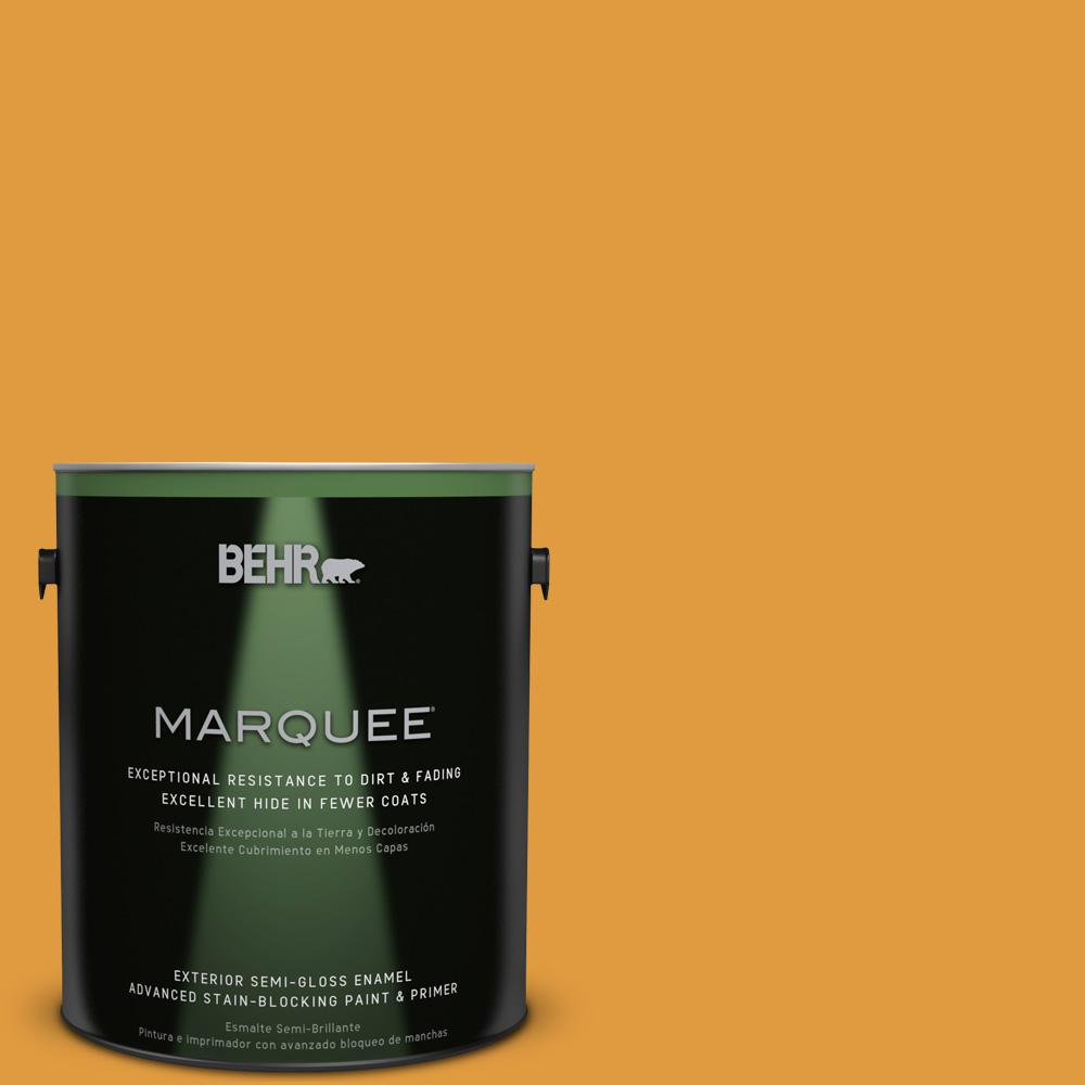 1 gal. #T18-05 Life Is Good Semi-Gloss Enamel Exterior Paint