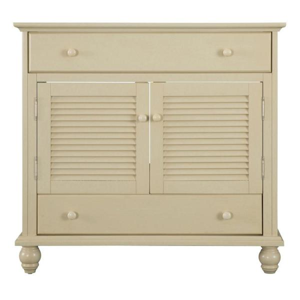 Cottage 36 in. W Bath Vanity Cabinet Only in Antique White