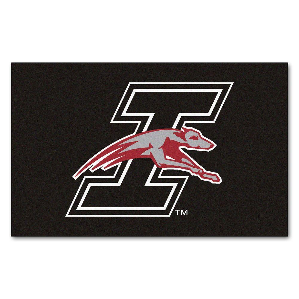 NCAA University of Indianapolis Black 5 ft. x 8 ft. Area