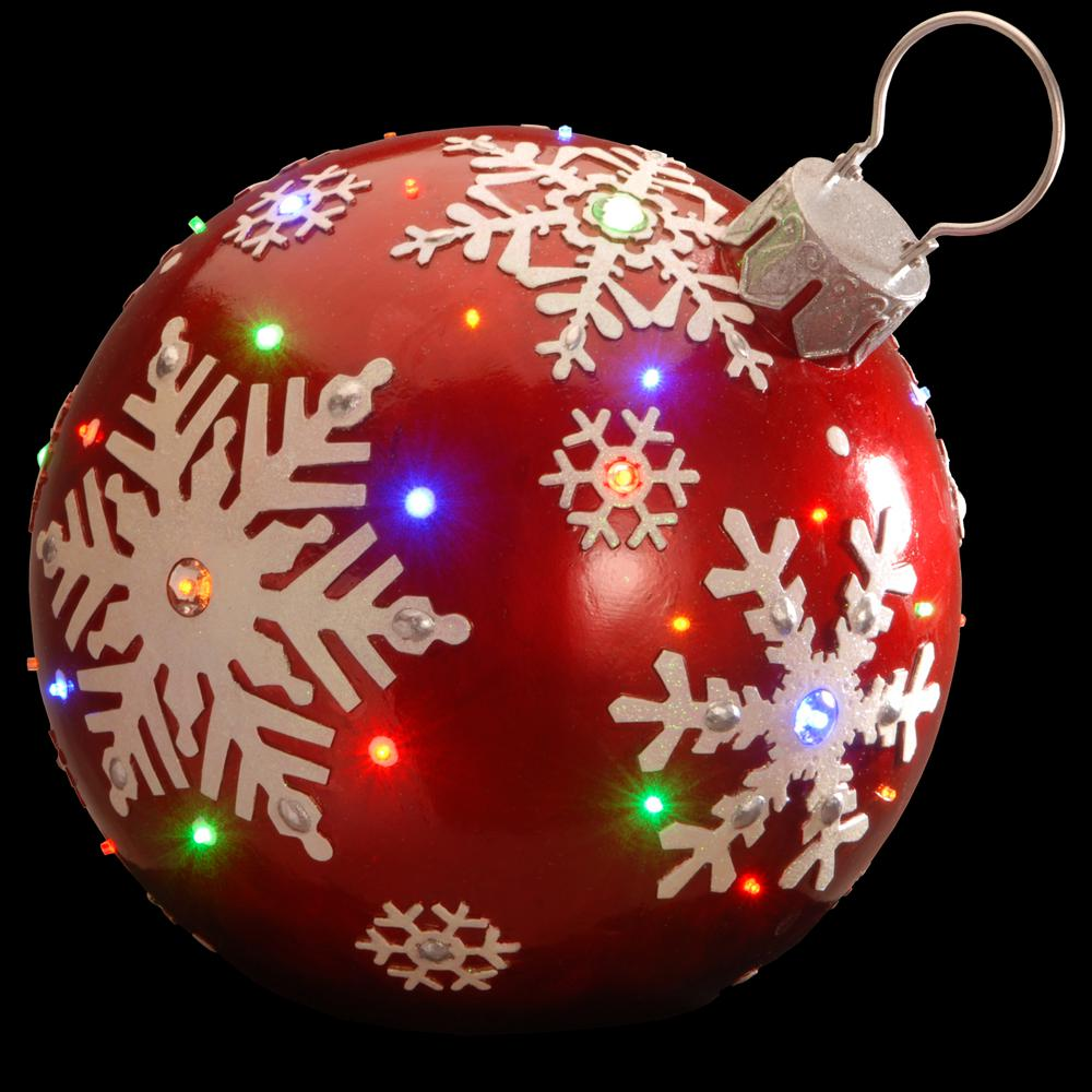 National Tree Company 18 In. Pre-Lit Ball Ornament
