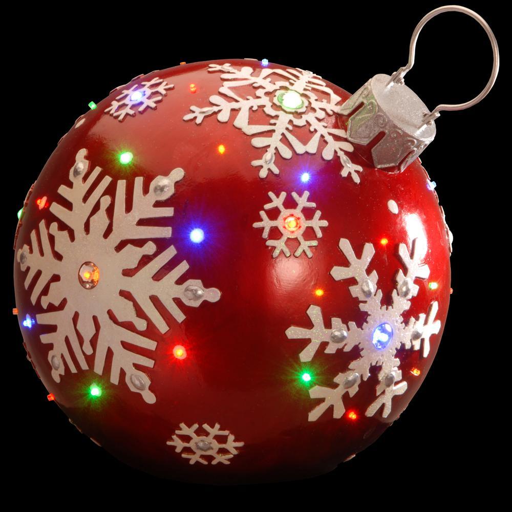 18 in. Pre-Lit Ball Ornament Decoration