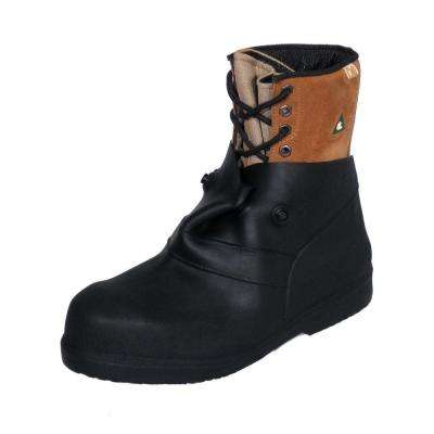6 in. Men Large/X-Large Black Rubber Over-the-Shoe Boots, Size 12-13