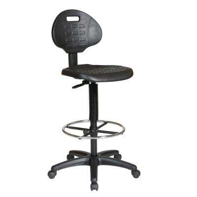 Black Intermediate Drafting Chair with Adjustable Footrest