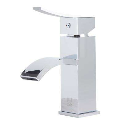 AB1258-PC Single Hole Single-Handle Bathroom Faucet in Polished Chrome