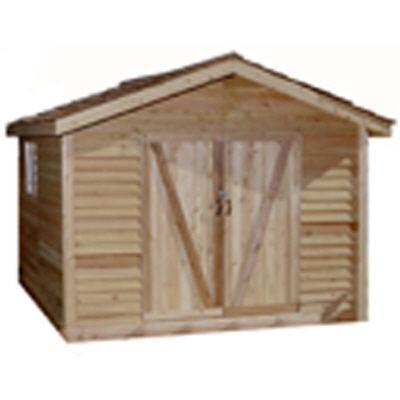 Star Lumber Deluxe 16 ft. x 10 ft. Cedar Bevel Siding Shed Kit-DISCONTINUED