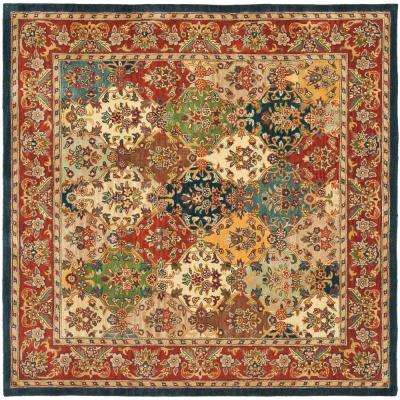 Heritage Multi/Burgundy 8 ft. x 8 ft. Square Area Rug
