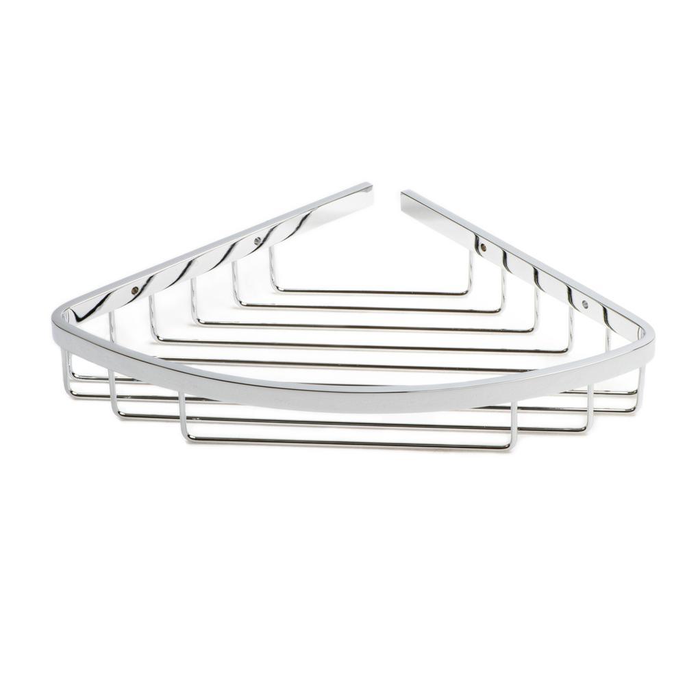Naples Corner Shower Basket in Polished Chrome