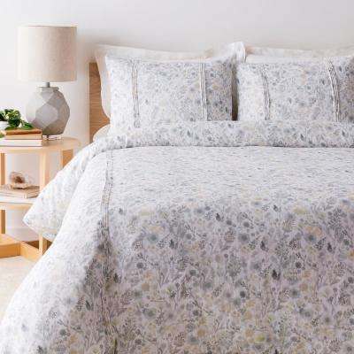 Camilla White Full/Queen Duvet Set