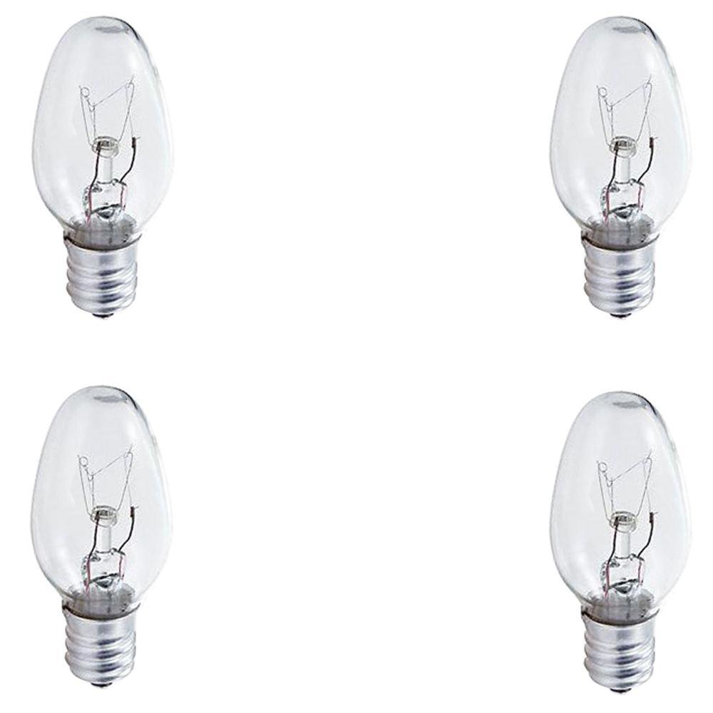 4-Watt C7 Incandescent Night Light Bulb (4-Pack)