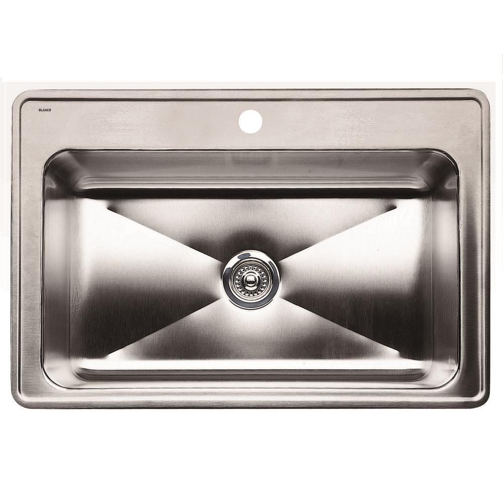 blanco magnum drop in stainless steel 33 in 1 hole single bowl