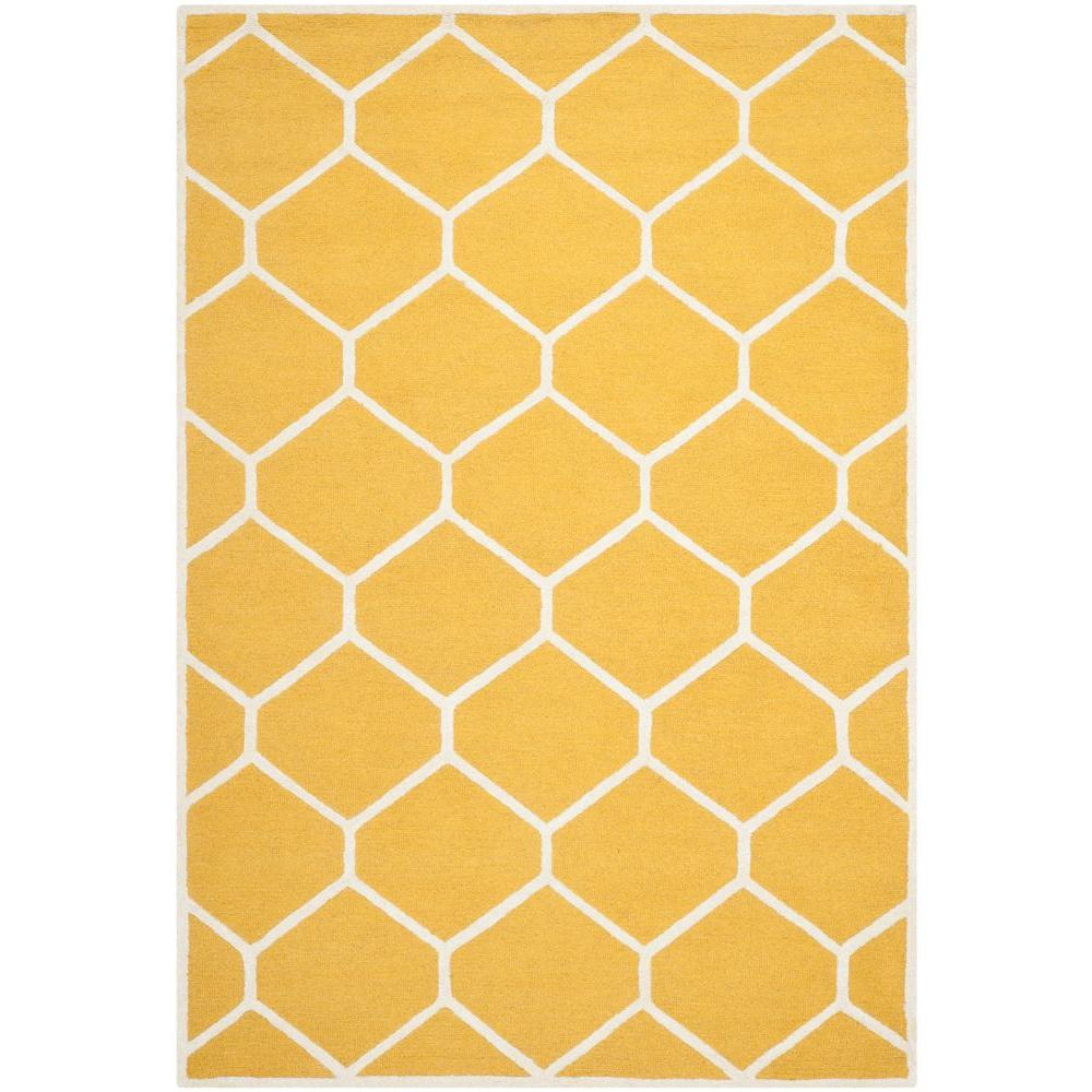 Safavieh Cambridge Gold/Ivory 6 ft. x 9 ft. Area Rug