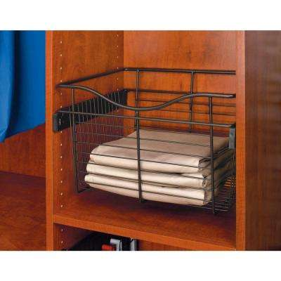 30 in. x 7 in. Oil Rubbed Bronze Pull-Out Basket